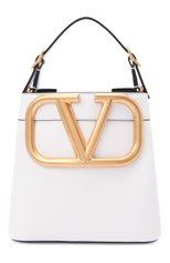 Женская сумка supervee VALENTINO белого цвета, арт. WW2B0J74/ZXL | Фото 1 (Материал: Натуральная кожа; Размер: mini; Ремень/цепочка: На ремешке; Сумки-технические: Сумки top-handle, Сумки через плечо)