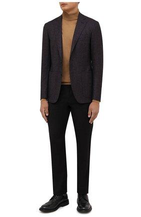 Мужские шерстяные брюки CANALI темно-коричневого цвета, арт. V1659/AR03474   Фото 2