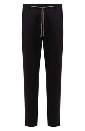 Мужские шерстяные брюки CANALI темно-коричневого цвета, арт. V1659/AR03472 | Фото 1 (Материал внешний: Шерсть; Случай: Повседневный; Стили: Кэжуэл; Длина (брюки, джинсы): Стандартные)