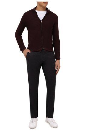 Мужские шерстяные брюки CANALI темно-коричневого цвета, арт. V1659/AR03472 | Фото 2 (Материал внешний: Шерсть; Случай: Повседневный; Стили: Кэжуэл; Длина (брюки, джинсы): Стандартные)