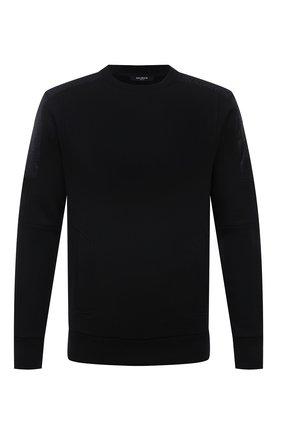 Мужской хлопковый свитшот BALMAIN черного цвета, арт. WH1JQ050/271J   Фото 1