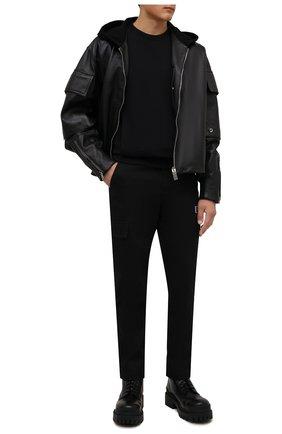 Мужской хлопковый свитшот BALMAIN черного цвета, арт. WH1JQ050/271J   Фото 2