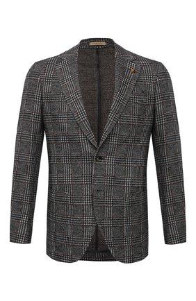 Мужской пиджак из шерсти и хлопка SARTORIA LATORRE серого цвета, арт. JEF74 JA4112 | Фото 1
