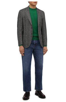 Мужской пиджак из шерсти и хлопка SARTORIA LATORRE серого цвета, арт. JEF74 JA4112 | Фото 2 (Материал внешний: Шерсть, Хлопок, Синтетический материал; Длина (для топов): Стандартные; Материал подклада: Вискоза; Рукава: Длинные; 1-2-бортные: Однобортные; Пиджаки М: Приталенный; Случай: Повседневный; Стили: Кэжуэл)
