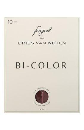 Женские колготки DRIES VAN NOTEN бордового цвета, арт. 212-011903-042 | Фото 1 (Материал внешний: Синтетический материал)
