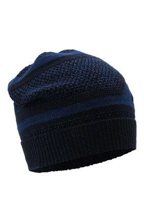 Мужская шапка из шерсти и шелка ZILLI SPORT темно-синего цвета, арт. MBW-B0508-PIZS1/ML01 | Фото 1 (Материал: Шерсть; Кросс-КТ: Трикотаж)