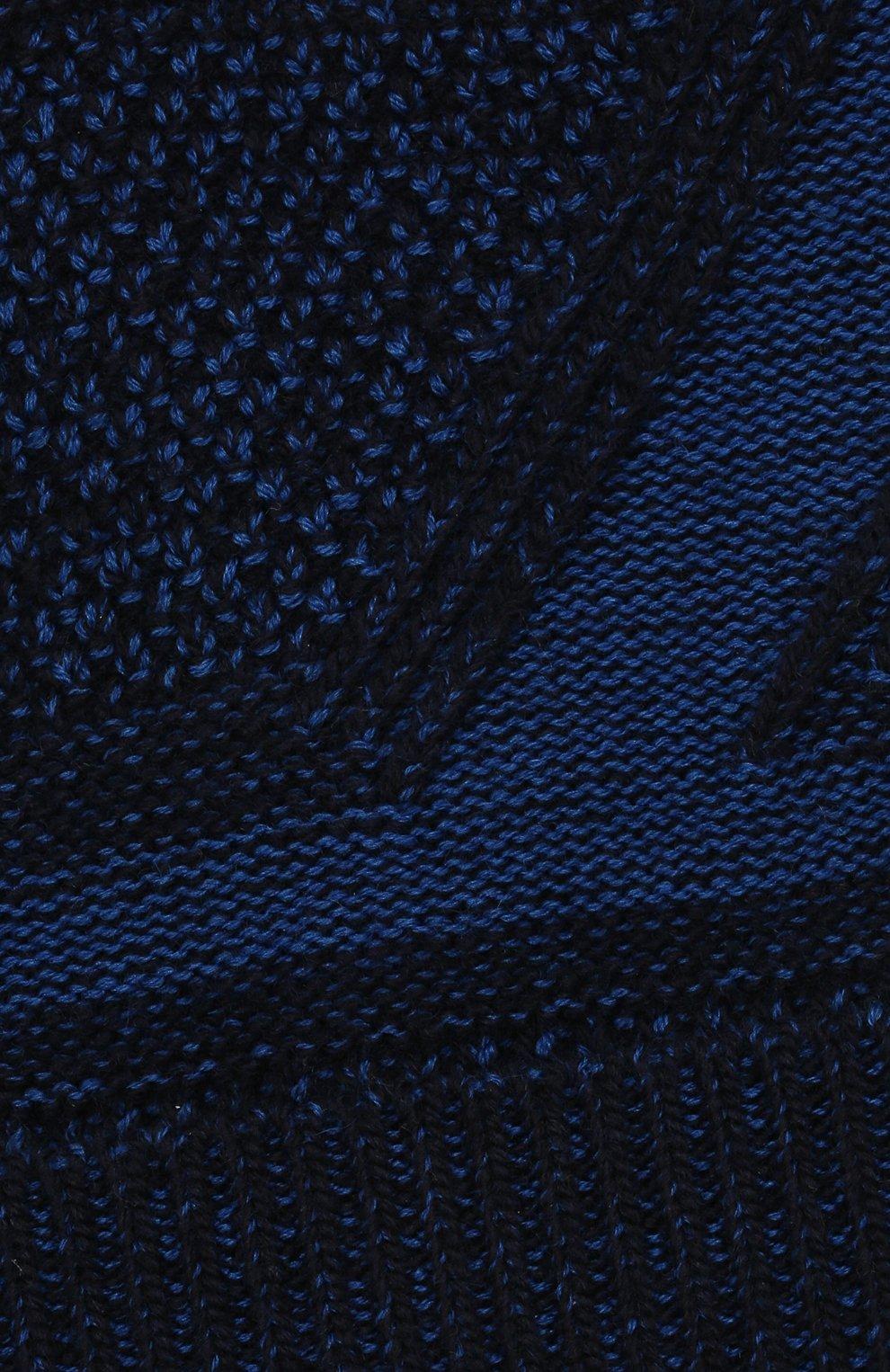 Мужская шапка из шерсти и шелка ZILLI SPORT темно-синего цвета, арт. MBW-B0508-PIZS1/ML01 | Фото 3 (Материал: Шерсть; Кросс-КТ: Трикотаж)