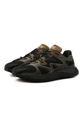 Мужские комбинированные кроссовки wade runner VALENTINO хаки цвета, арт. WY2S0D95/RIY   Фото 1 (Материал внешний: Экокожа; Материал внутренний: Текстиль; Подошва: Массивная; Стили: Гранж)