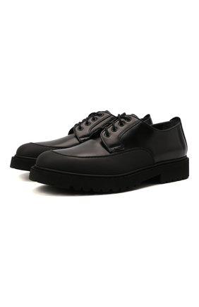 Мужские кожаные дерби DOUCAL'S черного цвета, арт. DU2910CENTPF555NN00 | Фото 1 (Материал внутренний: Натуральная кожа; Стили: Классический)