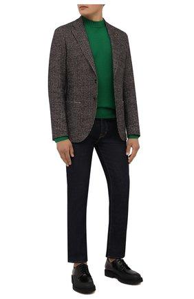 Мужские кожаные дерби DOUCAL'S черного цвета, арт. DU2910CENTPF555NN00 | Фото 2 (Материал внутренний: Натуральная кожа; Стили: Классический)