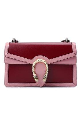 Женская сумка dionysus small GUCCI бордового цвета, арт. 400249/18YQX | Фото 1 (Материал: Натуральная кожа; Сумки-технические: Сумки через плечо; Размер: small; Женское Кросс-КТ: Вечерняя сумка)