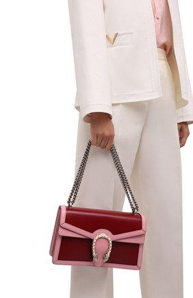 Женская сумка dionysus small GUCCI бордового цвета, арт. 400249/18YQX | Фото 2 (Материал: Натуральная кожа; Сумки-технические: Сумки через плечо; Размер: small; Женское Кросс-КТ: Вечерняя сумка)