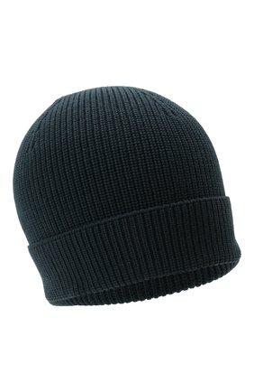 Мужская шерстяная шапка GRAN SASSO темно-синего цвета, арт. 23129/24604 | Фото 1 (Материал: Шерсть; Кросс-КТ: Трикотаж)