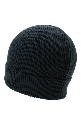 Мужская шерстяная шапка GRAN SASSO темно-синего цвета, арт. 23129/24604 | Фото 2 (Материал: Шерсть; Кросс-КТ: Трикотаж)