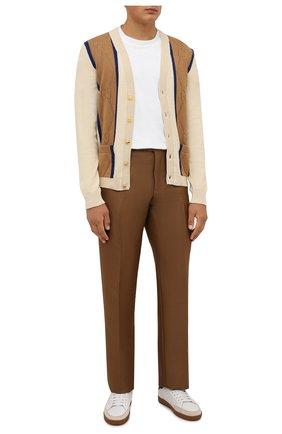 Мужские брюки из шерсти и вискозы TOM FORD коричневого цвета, арт. 244R24/610043 | Фото 2