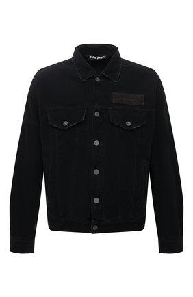 Мужская хлопковая куртка PALM ANGELS черного цвета, арт. PMYE006F21DEN0011010 | Фото 1