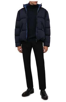 Мужской шерстяной свитер PALM ANGELS черного цвета, арт. PMHF010F21KNI0011001 | Фото 2