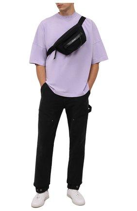Мужская текстильная поясная сумка PALM ANGELS черного цвета, арт. PMN0002F21LEA0011001 | Фото 2