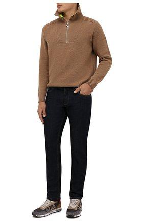 Мужские комбинированные кроссовки eric PREMIATA серого цвета, арт. ERIC/VAR5371 | Фото 2 (Материал внешний: Текстиль; Подошва: Массивная; Материал внутренний: Натуральная кожа; Стили: Гранж)