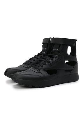 Мужские кроссовки tabi maison margiela x reebok classic MAISON MARGIELA черного цвета, арт. S37WS0569/P4241 | Фото 1 (Материал внутренний: Текстиль; Стили: Гранж; Подошва: Массивная)