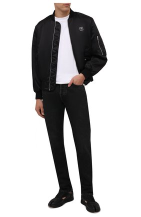 Мужские кроссовки tabi maison margiela x reebok classic MAISON MARGIELA черного цвета, арт. S37WS0569/P4241 | Фото 2 (Материал внутренний: Текстиль; Стили: Гранж; Подошва: Массивная)
