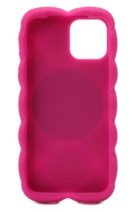Чехол для iphone 12 pro DOLCE & GABBANA фуксия цвета, арт. BI3028/AQ374   Фото 2 (Материал: Синтетический материал)