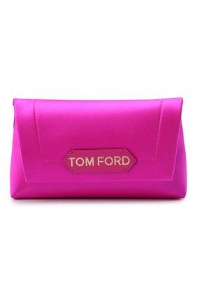 Женская сумка label mini TOM FORD розового цвета, арт. L1487T-TSA005   Фото 1 (Материал: Текстиль; Размер: mini; Сумки-технические: Сумки top-handle, Сумки через плечо)