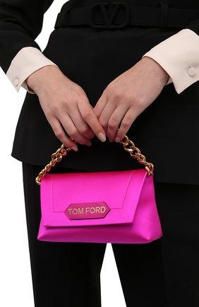 Женская сумка label mini TOM FORD розового цвета, арт. L1487T-TSA005   Фото 2 (Материал: Текстиль; Размер: mini; Сумки-технические: Сумки top-handle, Сумки через плечо)