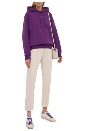 Женский хлопковое худи KENZO фиолетового цвета, арт. FB62SW6404M0 | Фото 2 (Материал внешний: Хлопок; Длина (для топов): Стандартные; Рукава: Длинные; Женское Кросс-КТ: Худи-одежда; Стили: Спорт-шик)