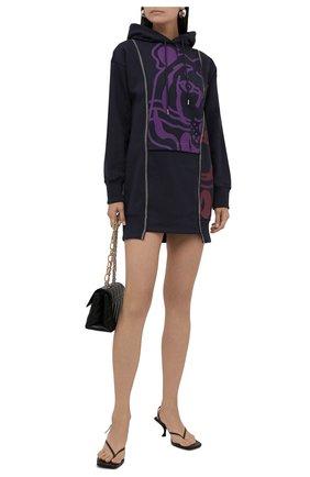 Женское хлопковое платье KENZO темно-синего цвета, арт. FB62R08034M0   Фото 2