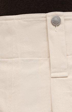 Женские хлопковые шорты ISABEL MARANT кремвого цвета, арт. SH0428-21A016I/DIC0CHIA | Фото 5 (Женское Кросс-КТ: Шорты-одежда; Длина Ж (юбки, платья, шорты): Мини; Материал внешний: Хлопок; Стили: Кэжуэл)