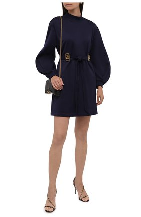 Женское хлопковое платье LANVIN темно-синего цвета, арт. RW-DR0069-J039-A21   Фото 2