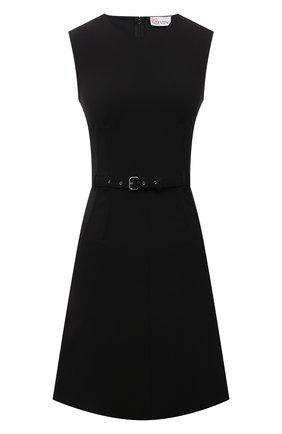 Женское платье REDVALENTINO черного цвета, арт. WR0VACQ5/5LB   Фото 1 (Длина Ж (юбки, платья, шорты): Мини; Материал подклада: Синтетический материал; Материал внешний: Синтетический материал; Женское Кросс-КТ: Платье-одежда; Стили: Кэжуэл; Случай: Формальный)