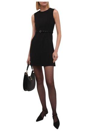 Женское платье REDVALENTINO черного цвета, арт. WR0VACQ5/5LB   Фото 2 (Длина Ж (юбки, платья, шорты): Мини; Материал подклада: Синтетический материал; Материал внешний: Синтетический материал; Женское Кросс-КТ: Платье-одежда; Стили: Кэжуэл; Случай: Формальный)
