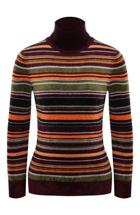 Женская водолазка из вискозы SAINT LAURENT разноцветного цвета, арт. 668349/Y75FG   Фото 1 (Длина (для топов): Стандартные; Рукава: Длинные; Материал внешний: Синтетический материал, Вискоза; Женское Кросс-КТ: Водолазка-одежда; Стили: Кэжуэл)