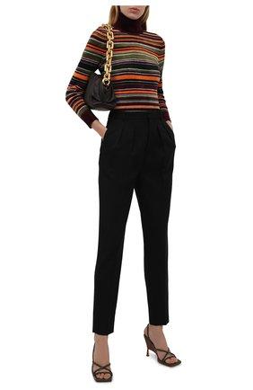 Женская водолазка из вискозы SAINT LAURENT разноцветного цвета, арт. 668349/Y75FG   Фото 2 (Длина (для топов): Стандартные; Рукава: Длинные; Материал внешний: Синтетический материал, Вискоза; Женское Кросс-КТ: Водолазка-одежда; Стили: Кэжуэл)