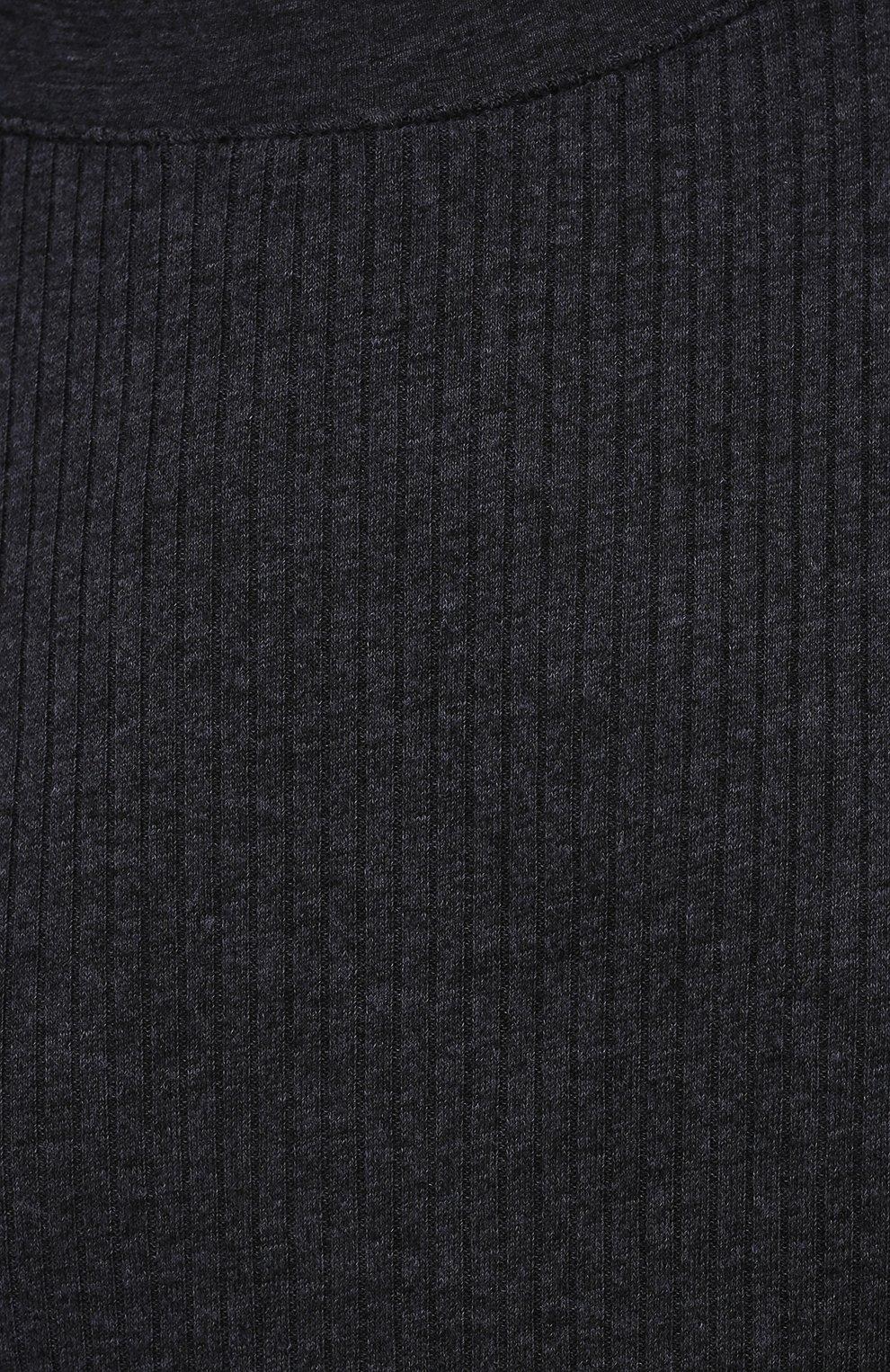 Женская хлопковый лонгслив JAMES PERSE темно-синего цвета, арт. WRTJ3662   Фото 5 (Рукава: Длинные; Принт: Без принта; Длина (брюки, джинсы): Стандартные; Материал внешний: Синтетический материал, Хлопок; Длина (для топов): Стандартные; Женское Кросс-КТ: Лонгслив-одежда; Стили: Кэжуэл)