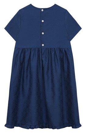 Женский хлопковое платье GUCCI синего цвета, арт. 657943/XWAQA   Фото 2