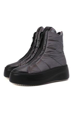 Женские текстильные ботинки VIC MATIE темно-серого цвета, арт. 1W3408D.W62CBHB007   Фото 1