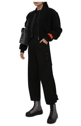 Женские текстильные ботинки VIC MATIE темно-серого цвета, арт. 1W3408D.W62CBHB007   Фото 2