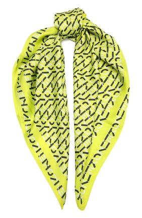 Женский шелковый платок KENZO желтого цвета, арт. FB58EW320PFN | Фото 1 (Материал: Текстиль, Шелк; Принт: С принтом)