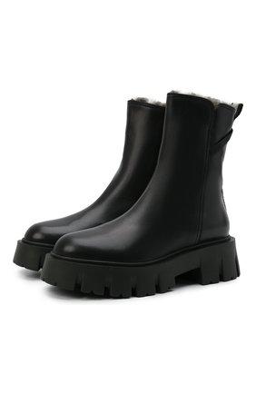 Женские кожаные ботинки PREMIATA черного цвета, арт. M6112M/BUTTERFLY | Фото 1