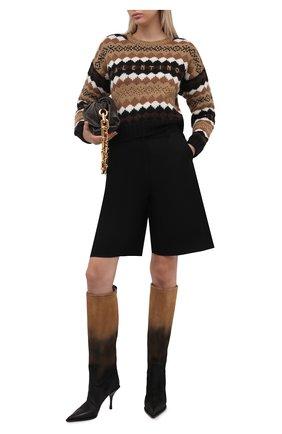 Женские кожаные сапоги PREMIATA коричневого цвета, арт. M6174/ARSENI0   Фото 2 (Материал внутренний: Натуральная кожа; Высота голенища: Средние; Подошва: Плоская; Каблук высота: Высокий; Каблук тип: Шпилька)