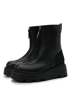 Женские кожаные ботинки PREMIATA черного цвета, арт. M6193/NAPPA+IR0NMAN   Фото 1 (Материал внутренний: Натуральная кожа; Подошва: Платформа; Женское Кросс-КТ: Байкеры-ботинки)