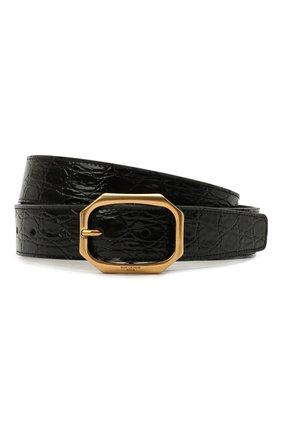Женский кожаный ремень SAINT LAURENT черного цвета, арт. 669889/1ZQ0W | Фото 1