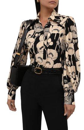 Женский кожаный ремень SAINT LAURENT черного цвета, арт. 669889/1ZQ0W | Фото 2