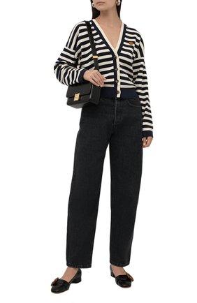 Женские кожаные туфли GUCCI черного цвета, арт. 658856/C9D00 | Фото 2 (Каблук высота: Низкий; Подошва: Плоская; Материал внутренний: Натуральная кожа; Каблук тип: Устойчивый)