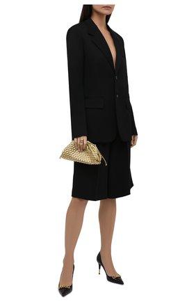 Женские кожаные туфли TOM FORD черного цвета, арт. W2999T-LSP002 | Фото 2 (Подошва: Плоская; Материал внутренний: Натуральная кожа; Каблук высота: Высокий; Каблук тип: Шпилька)
