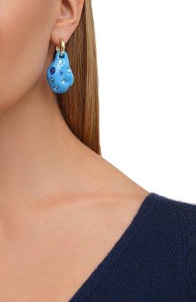 Женские моносерьга LILI ARCHIVE синего цвета, арт. MeM4C35G   Фото 2