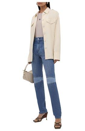 Женские джинсы KENZO синего цвета, арт. FB62DP2989FA   Фото 2